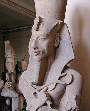 Busto del faraón Akenaton en el Museo de El Cairo. (Foto: Wikipedia Commons)