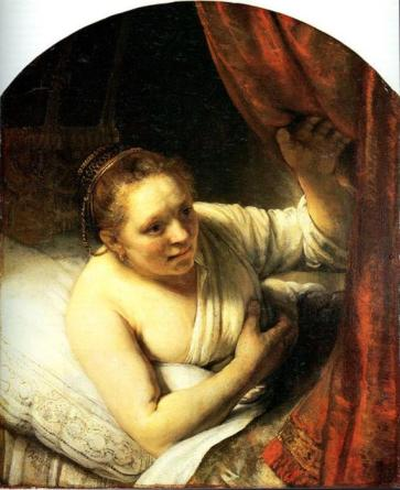 Rembrandt-Van-Rijn-Young-Woman-in-Bed-also-known-as-Sarah-Waiting-for-Tobias-