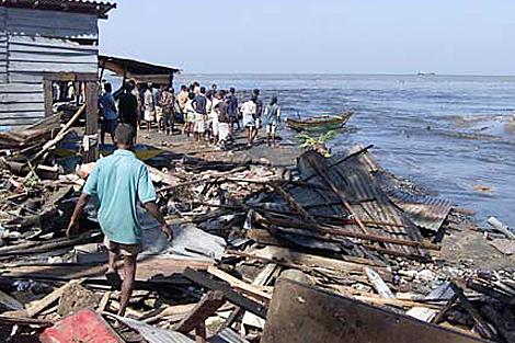 Una zona de Sri Lanza afectada por el tsunami de 2005. | AP