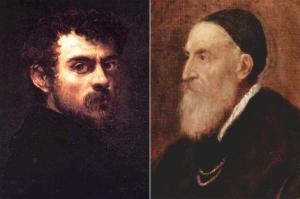 Autorretratos de Tintoretto y Tiziano