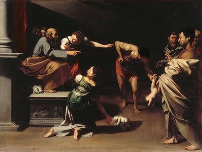 El Prado acoge entre el 5 de abril y el 31 de julio la exposición El joven Ribera, una muestra de la obra del pintor español durante su estancia en Roma y Nápoles. Este cuadro representa El juicio de Salomón, pintado entre 1609-10 y que está en la galería Borghese, de Roma.