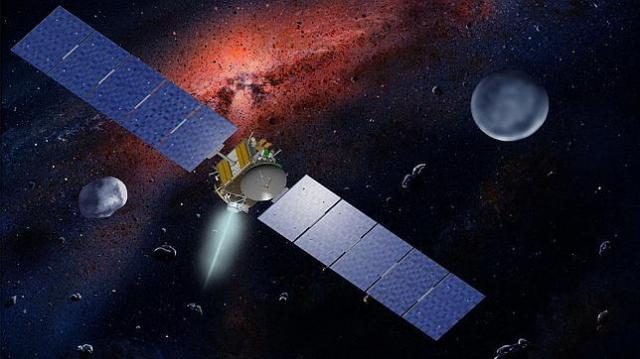 JPL  La nave Dawn, propulsada por poderosos motores de iones, se acerca ya a Vesta