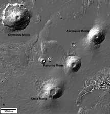 Montes Tharsis. |ESA