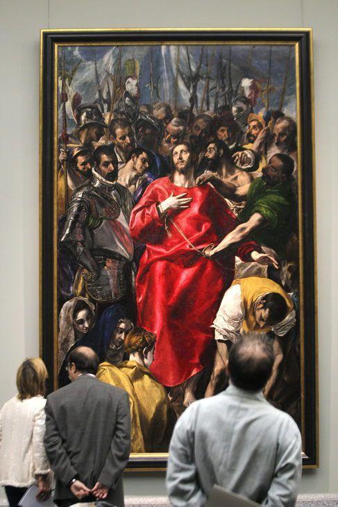 'El Expolio ' de El Greco, exhibido en el Prado después de su restauración. Efe