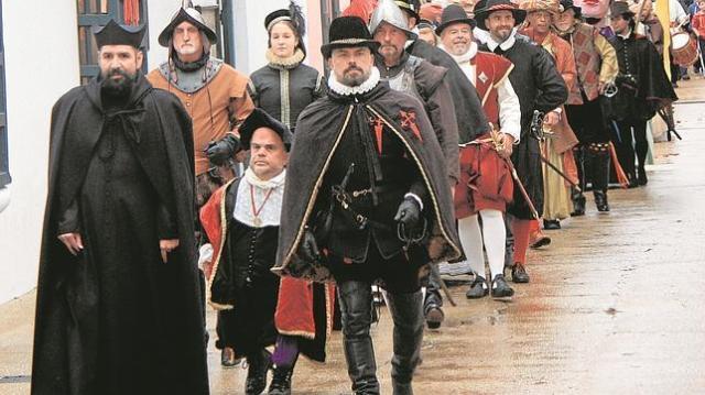 M.T. Comitiva festiva en San Agustín (Florida) en la celebración dedicada a su fundador, Pedro Menéndez de Avilés