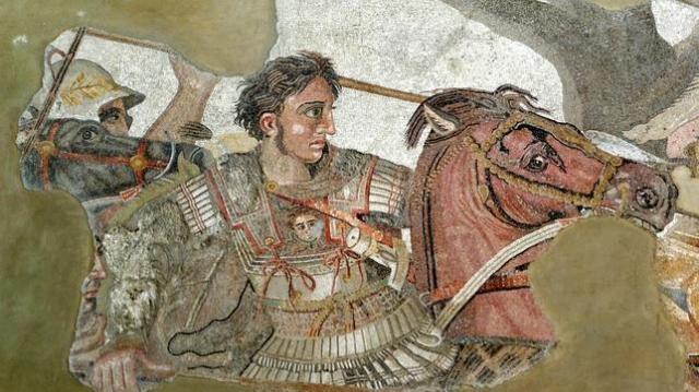 MANN Alejandro combate contra el rey persa Darío III en la batalla de Issos