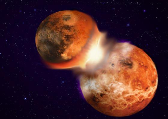 Reconstrucción del choque entre la Tierra y otro planeta con una composición muy similar / HAGAI PERETS
