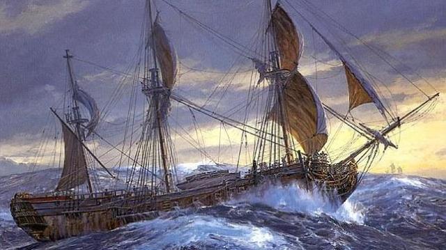WIKIMEDIA Un óleo del HMS Wager, cuya historia es controvertida y muestra lo peor del ser humano