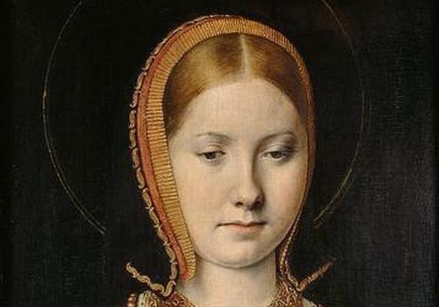 Museo Kunsthistorisches Retrato atribuido a Catalina de Aragón, pintado por Michael Sittow