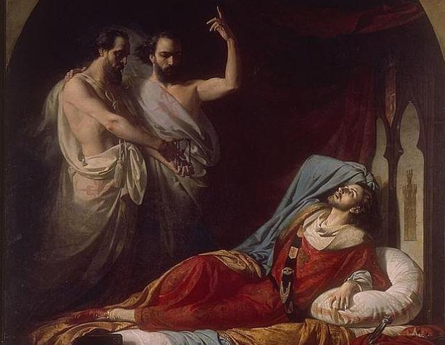 Senado «Últimos momentos de don Fernando IV el Emplazado», pintado por José Casado del Alisal en 1860 y expuesto en el Senado