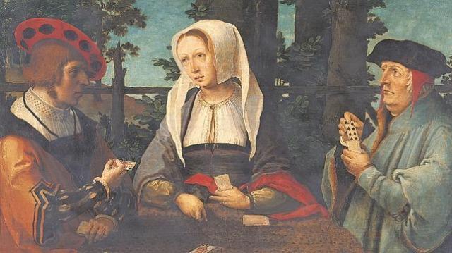 ABC «Los jugadores de cartas» (1520), de Lucas van Leyden