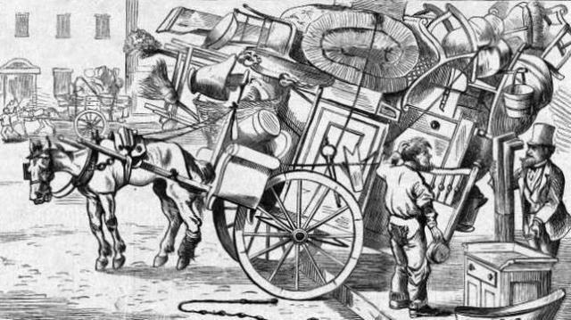Wikimedia El «moving day» era una tradición considerada «absurda» por muchos estadounidenses