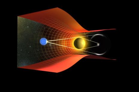 Esquema de lente gravitacionalNASA/ESA J. Richard (Caltech)