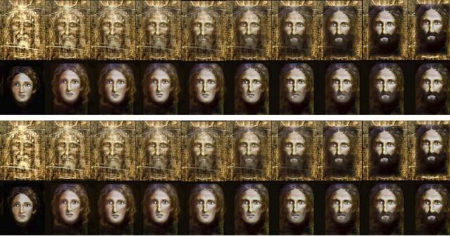 Fotografía facilitada por la Policía italiana de la reconstrucción del rostro de Jesús de Nazaret a partir de la Sábana Santa que ha realizado. 05-05-2015 | Efe