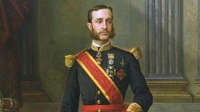 Casa Real Pintura del Rey Alfonso XII