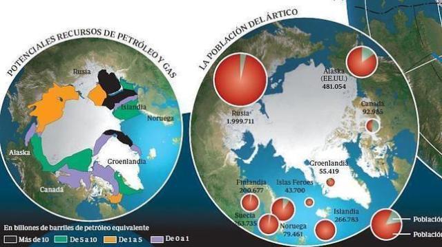 nasa Imagen satélite del Cículo Polar Ártico
