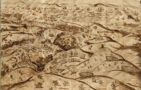 ABC Ilustración de la batalla de Alcántara que cerró la conquista de Portugal