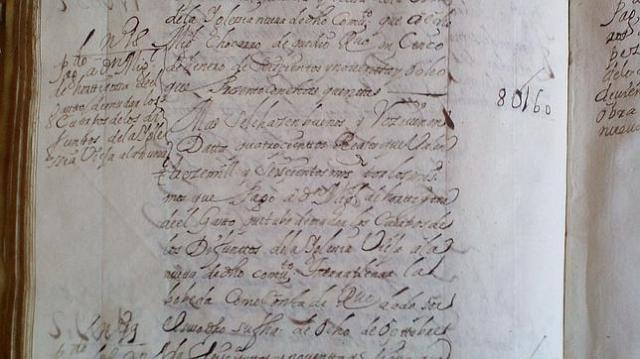 abc Registro del gasto en el libro de cuentas que custodia el convento