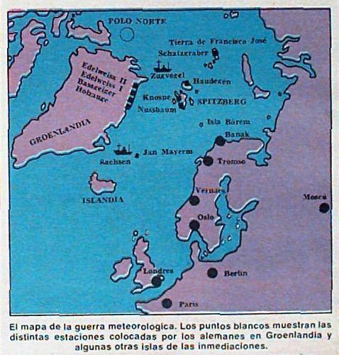 Mapa de la guerra meteorológica Archivo ABC