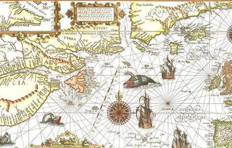 ABC Mapa del itinerario de los balleneros en el siglo XVI
