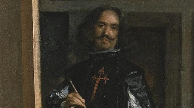 abc Diego de Velázquez, en un detalle de Las Meninas