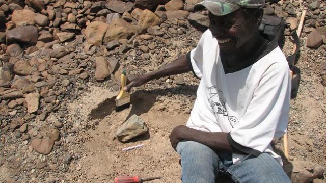 West Turkana Archaeological Project Una de las herramientas halladas en el yacimiento de Lomekwi 3, en Kenia