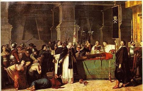 ABC «Los funerales de Atahualpa», cuadro del pintor peruano Luis Montero