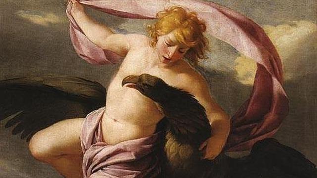 ABC El rapto de Ganimedes por el dios griego Zeus. Óleo de Eustache Le Sueur. 1650.