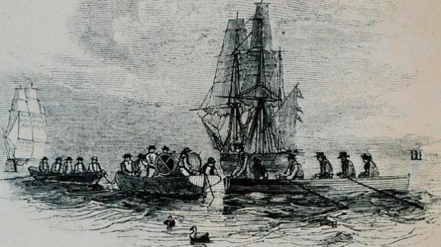 Wikimedia Los buques de la «Royal Navy» parten hacia el Ártico