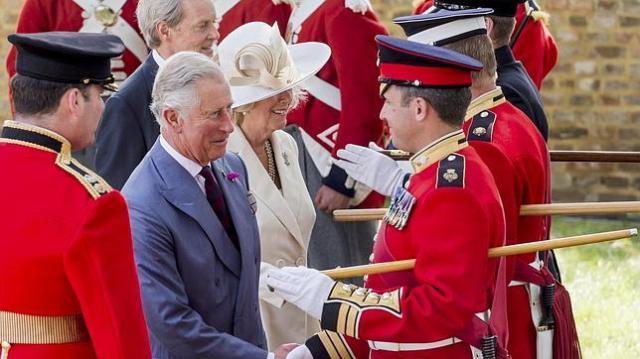 reuters El Príncipe Carlos en las celebraciones de la Batalla de Waterloo