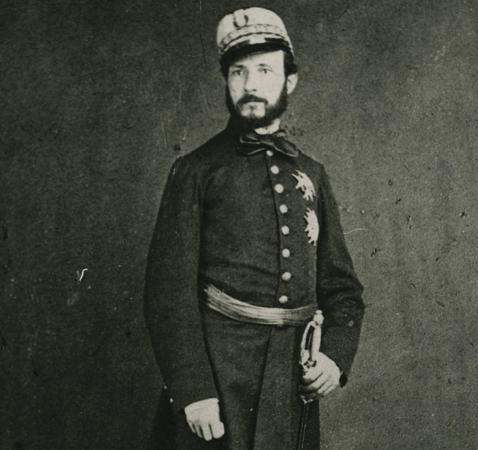 El joven general Prim, en 1859 Archivo ABC