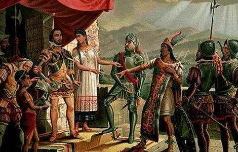 ABC Francisco Pizarro se encuentra con el líder inca Atahualpa