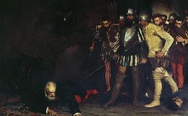 Wikipedia Francisco Pizarro trata de defenderse del ataque de los seguidores de Almagro