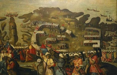 wIKIPEDIA Llegada de la flota turca a Malta, por Mateo Pérez de Alesio