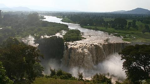 Las cataratas del Nilo Azul, en Etiopía