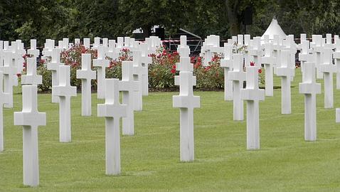 Cementerio americano en Colleville Sur Mer 101 Airborne Girona Reenactment Group