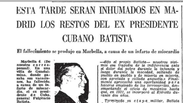 archivo de abc Fragmento de la crónica de ABC que da cuenta de la muerte del dictador en Marbella