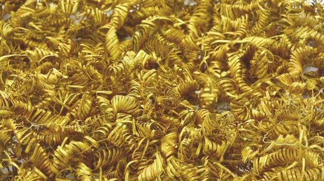 Morten Petersen/Zealand Museum Miles de pequeñas espirales de oro de los sacrificios de la Edad de Bronce