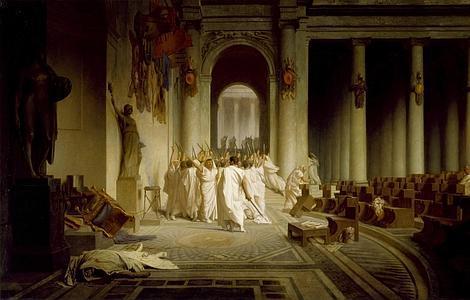 Wikipedia La muerte de Julio César, por Jean-León Gérôme