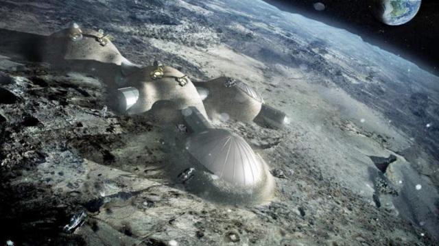 Recreación de cómo serían las posibles viviendas en el satélite Foster + Partners
