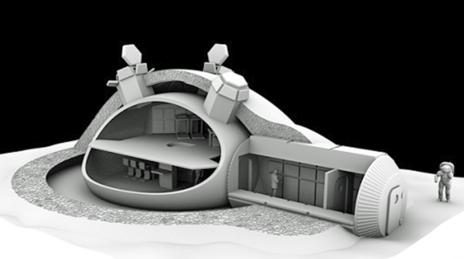Imagen de la estructura interna de las posibles viviendasFoster + Partners