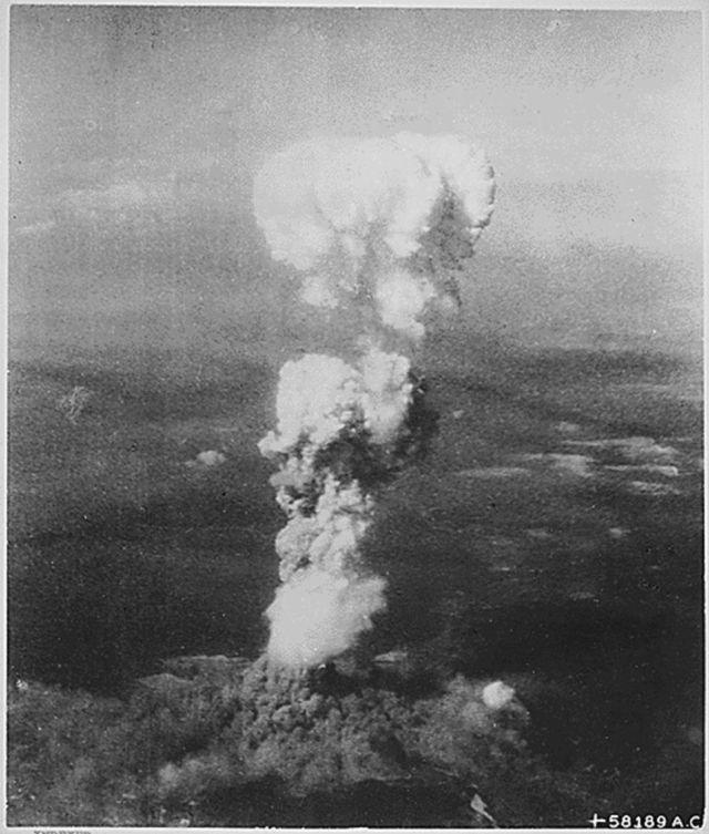 El hongo radiactiivo empezó a disiparse 30 minutos después de la explosión / US NATIONAL ARCHIVES / HANDOUT (EFE)