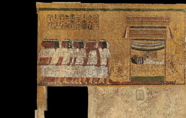 Algunas de las pinturas que decoran la tumba de Tutankamón.EL MUNDO
