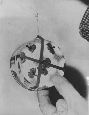 En esta cajtia de polvos iban los 30 gramos de esporas del 'Bacillus globigii' que los científicos y militares liberaron en el metro de Londres. / TNA, WO195/15751