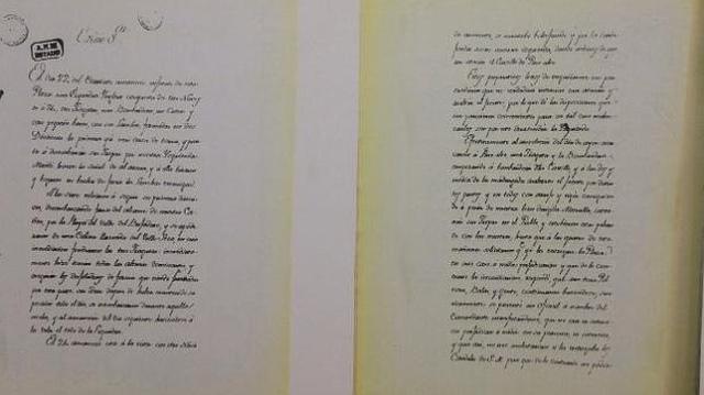 m. turner El escrito enviado a las Cortes dando cuenta de la batalla