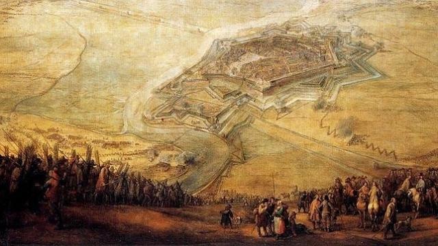 ABC El emplazamiento de Gravelinas en una pintura de Pieter Snayers de 1644