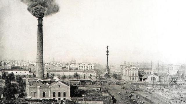 archivo abc La chimena del paralelo, en Barcelona, se levantó en 1896 para dar fuerza a una ciudad que empezaba una urbanización acelerada