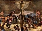 SCUOLA GRANDE DI SAN ROCCO «Crucifixión», de Tintoretto. Detalle