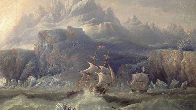John WILSON carmichael Cuadro que representa la tragedia de la expedición de Franklin