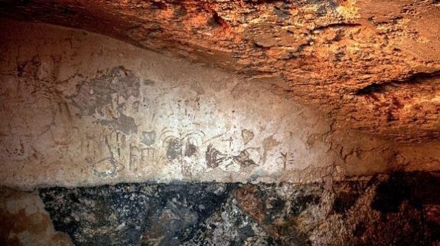 efe Las inscripciones en el interior del «mikve»